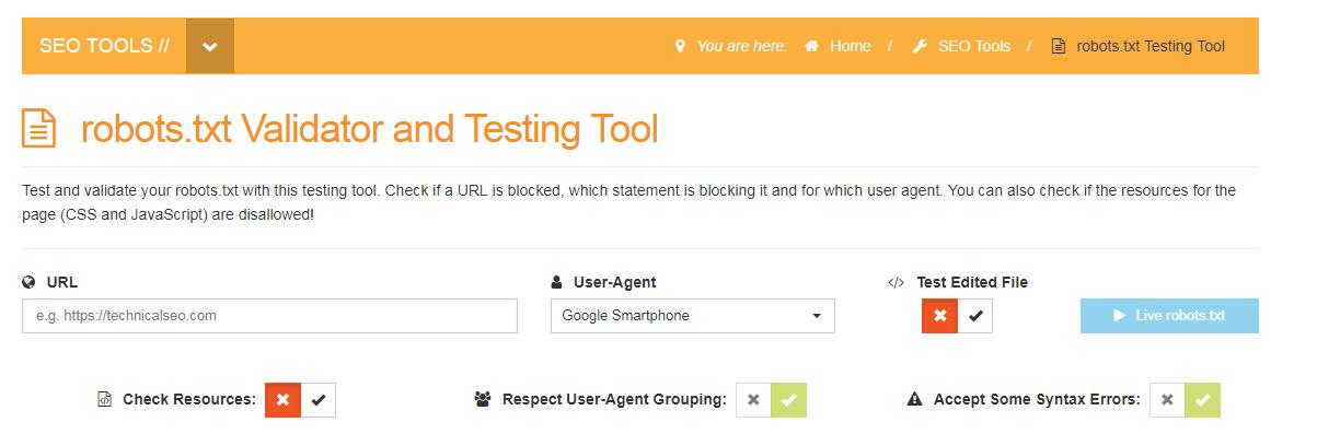Robots.txt Testing Tool
