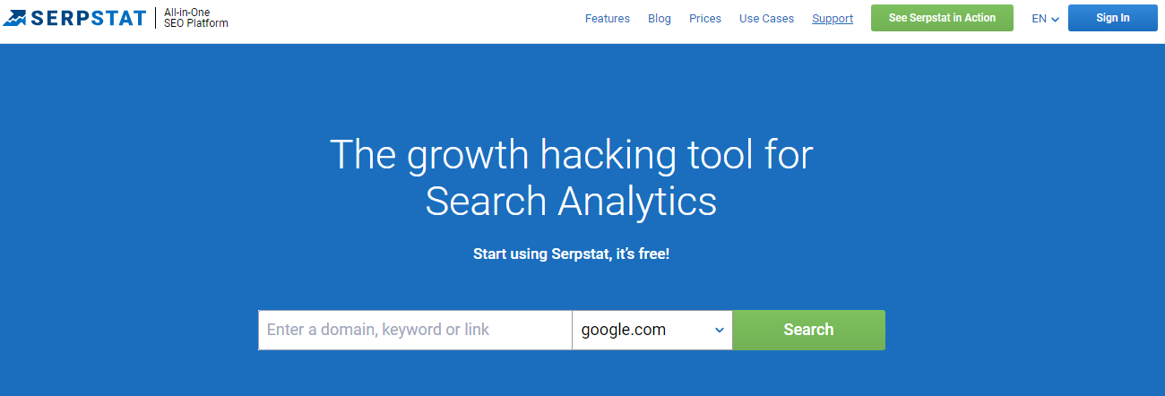 Serpstat backlink analysis tool